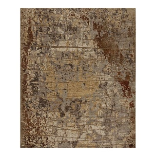 Earth Elements - Customizable Ivory Rust Rug (8x10) For Sale