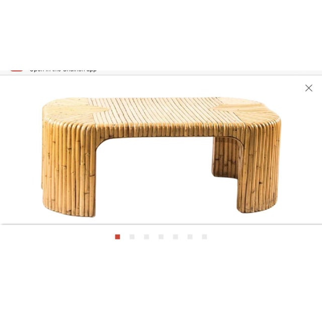 Wood 1960s Italian Midcentury Bamboo Coffee Table For Sale - Image 7 of 7