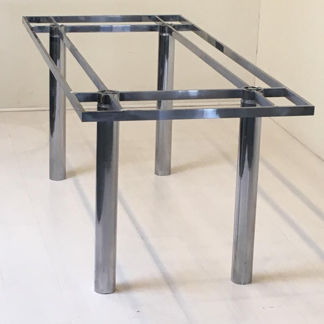 """Contemporary Knoll """"Andre"""" Chrome Dining Table Base For Sale - Image 3 of 5"""