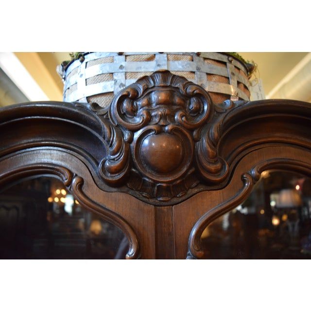Antique French Style Mahogany Cabinet For Sale - Image 6 of 7
