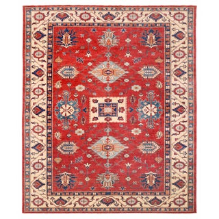 """Kazak Red Area Rug - 8'11"""" X 10'10"""" For Sale"""