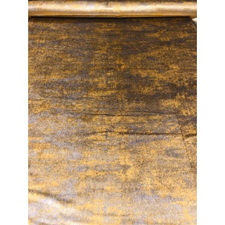 Lorenzo Castillio for Gaston Y Daniela Arnoldson Oro Plata Silver and Gold Designer Velvet Fabric - 5 Yards For Sale