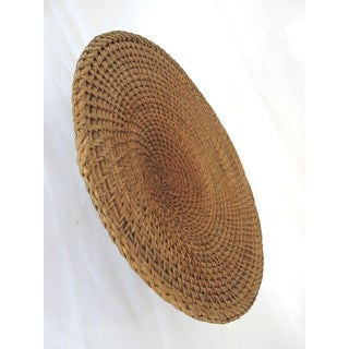 Vintage Woven Rattan 'Hapao Saucer' Basket or Tray, Benquet, Philippines Preview