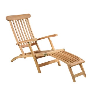 Outdoor Teak Lounge Chair For Sale