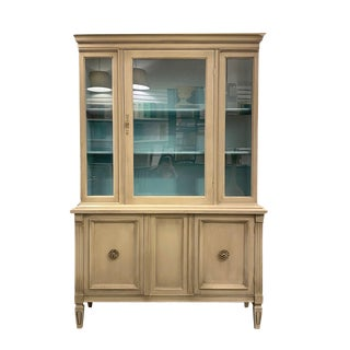 1960s Custom Painted Mid-Century Hutch For Sale