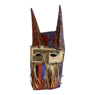 Gold Masked Devil, Hand Dyed Paper, Original Artwork For Sale