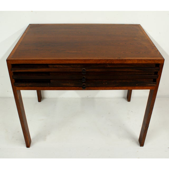 Rosewood Illum Wikkelso Danish Folding Tables Set - Image 4 of 5