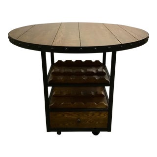 Organic Modern Counter Height Wine Dining Table For Sale