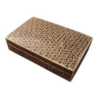 Persian Khatam Micro Mosaic Keepsake Box For Sale