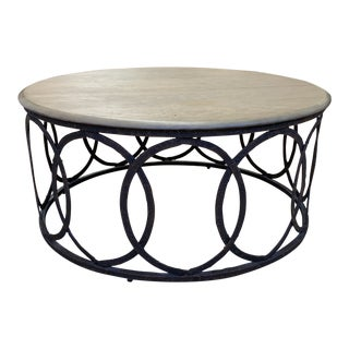Layla Grace Round Metal Coffee Table For Sale