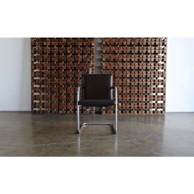 Brown Leather Armchairs by Antonio Citterio & Glen Oliver Low for Vitra - Set of 4 For Sale - Image 8 of 10