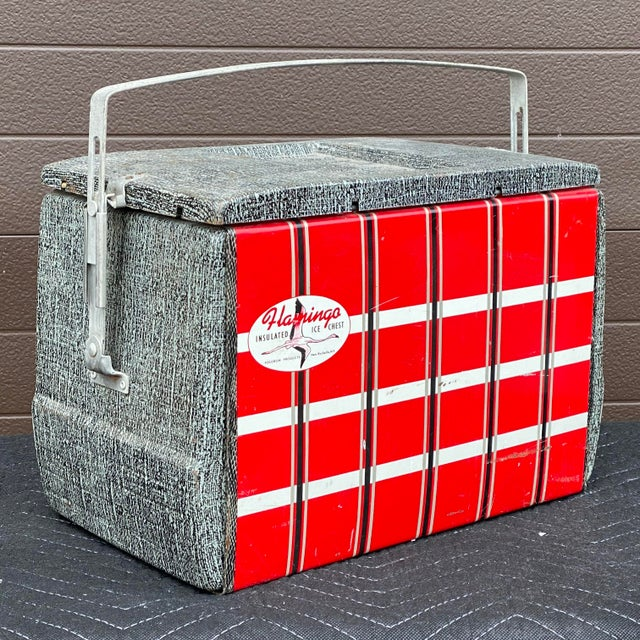 1950s Flamingo Insulated Ice Chest Cooler For Sale - Image 13 of 13