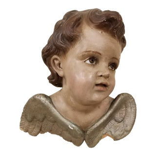 Antique Angel With Glass Eyes For Sale