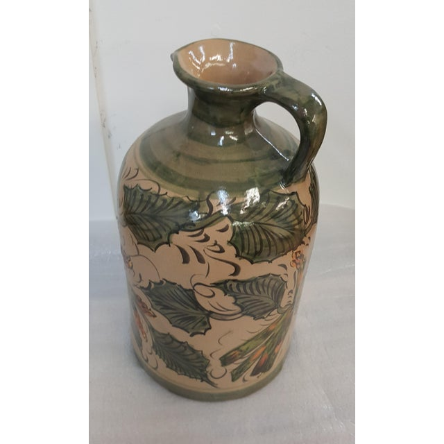 Asparagus Sarreid Leaves and Asparagus Ceramic Painted Pitcher For Sale - Image 8 of 8