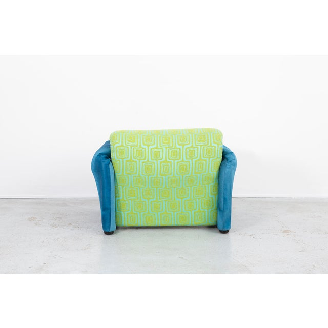 1980s Vico Magistretti Maralunga Chair + Ottoman For Sale - Image 5 of 11