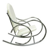 Image of Mid Century Modern Sculptural Chrome Thonet Rocking Chair For Sale