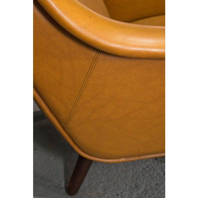 Vinyl High Back Danish Modern Lounge Chair For Sale - Image 7 of 10