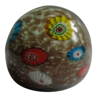Vintage Italian Millefiore Paperweight For Sale
