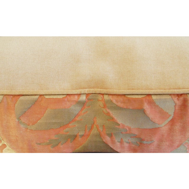 Italian Fortuny Glicine Gold Pillows - A Pair - Image 11 of 11