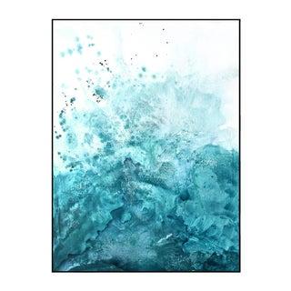 Water & Salt Teal - Framed Giclee Print For Sale