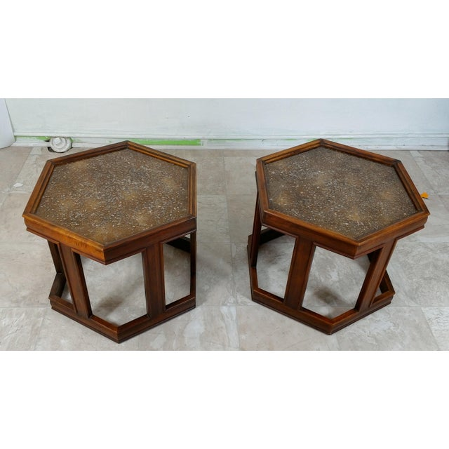 1960s Mid-Century Modern Brown and Saltman End Tables - a Pair For Sale - Image 9 of 12