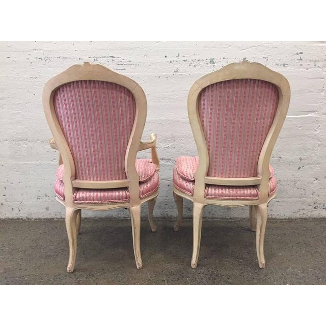 Set of Eight Louis XVI Style Painted Dining Chairs For Sale - Image 4 of 8