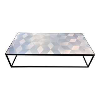 Geometric Pattern Metal Coffee Table For Sale