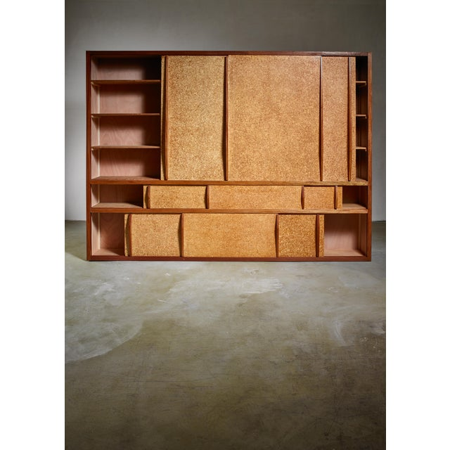 Wood Rare and Complete Charlotte Perriand & Jean Prouve Cupboard From Le Mans For Sale - Image 7 of 7