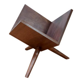 Mid-Century Walnut Record/Book/Magazine Holder For Sale