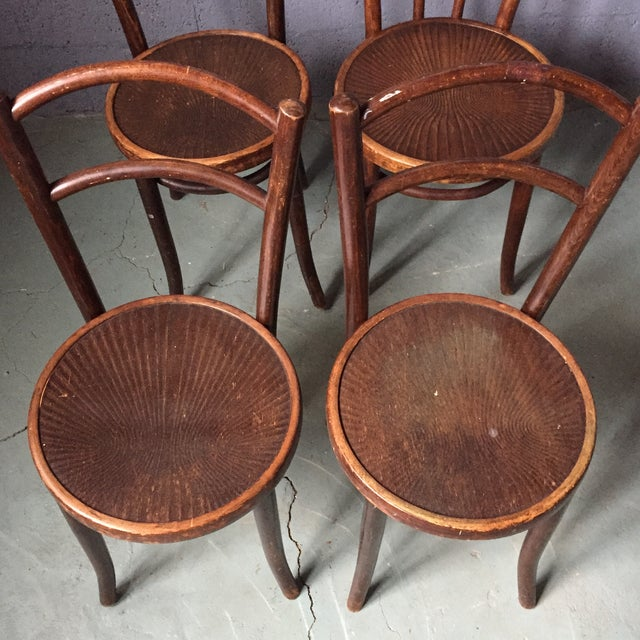 Thonet Bentwood Cafe Chairs - Set of 4 - Image 7 of 11
