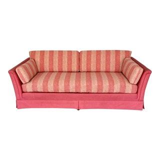 Drexel Mid-Century Hollywood Regency Tuxedo Sofa For Sale
