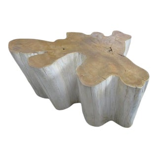 Organic Modern Two-Tone Teak Root Coffee Table For Sale