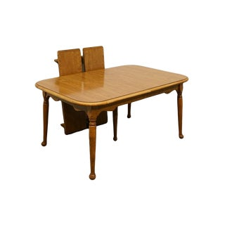 20th Century Traditional Ethan Allen Heirloom Nutmeg Maple Dining Table For Sale