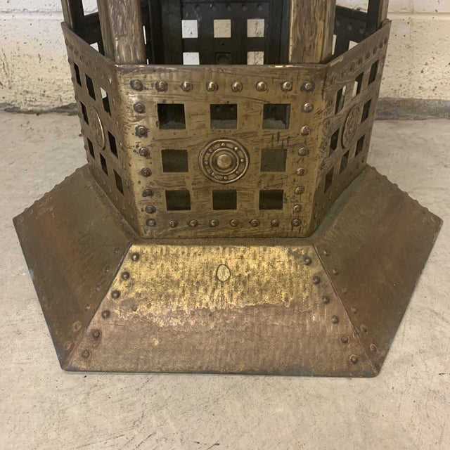 Unusual Medieval Standing Brass Planter or Bar For Sale In Richmond - Image 6 of 13