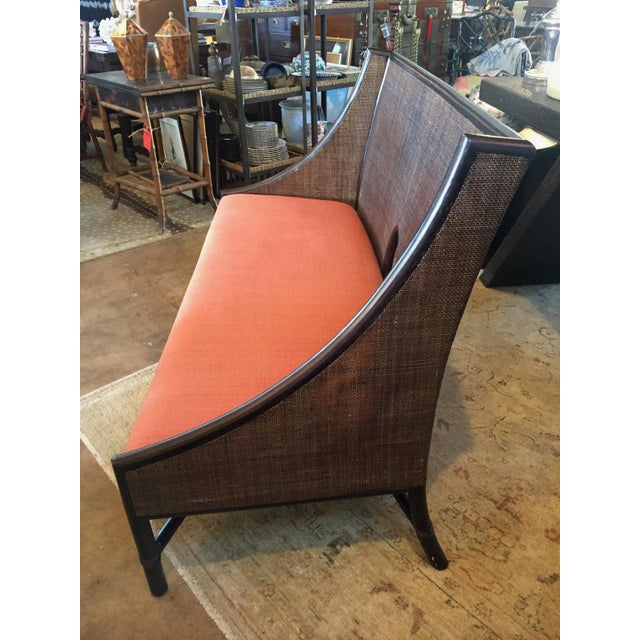 McGuire Bamboo Frame Cane Bench - Image 2 of 5