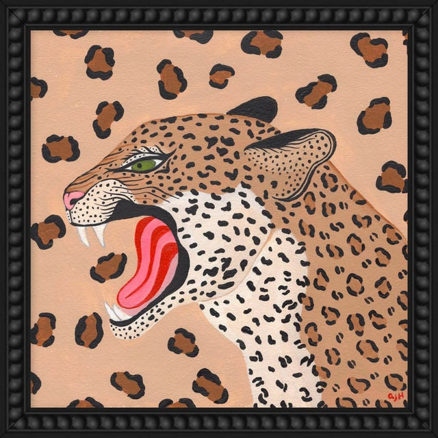 """Small """"Cheetah"""" Print by Willa Heart, 18"""" X 18"""" For Sale"""