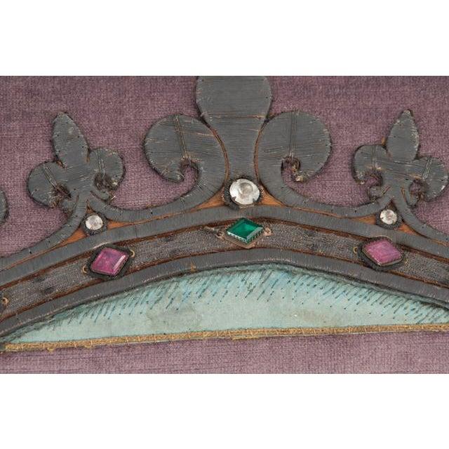 Silk B. Viz Design Antique Textile Pillow For Sale - Image 7 of 8