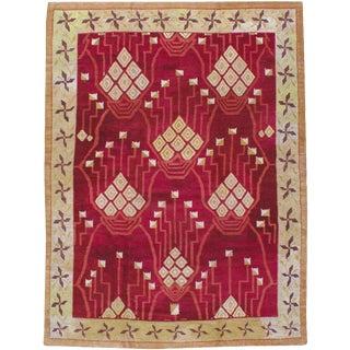 """Vintage Indian Deco Carpet - Size: 8' 11"""" X 11' 11"""" For Sale"""