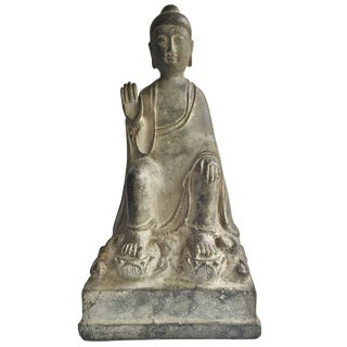 Antique Bronze No Fear Buddha For Sale