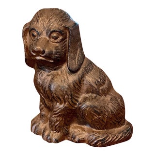 Spaniel Dog Cast Iron Doorstop For Sale