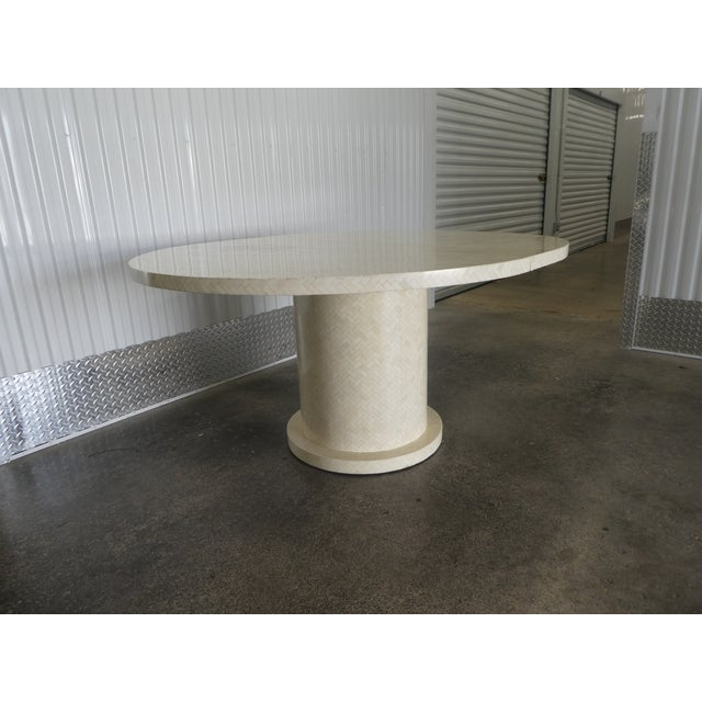 Enrique Garcel Tessellated Bone Dining Table W 2 Leaves For Sale In Miami - Image 6 of 13