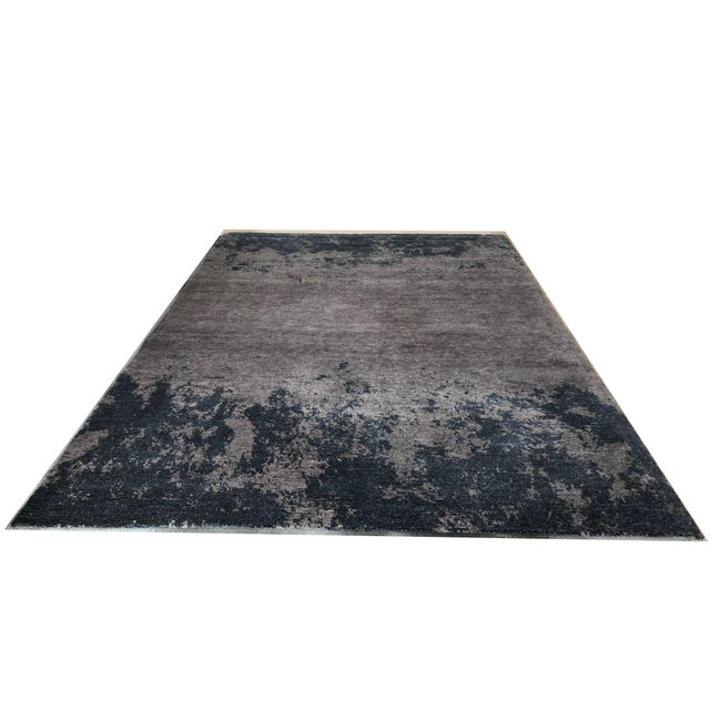 Atelier Lapchi Nebulous Gray Wool Hand Knotted Rug - 8' X 11' For Sale In San Francisco - Image 6 of 6