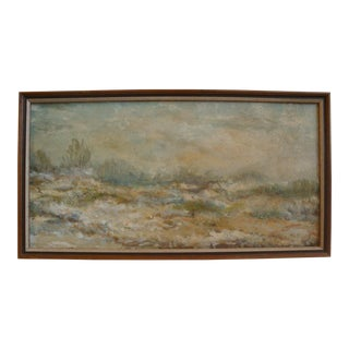Mid-Century Abstract Desert Landscape Painting