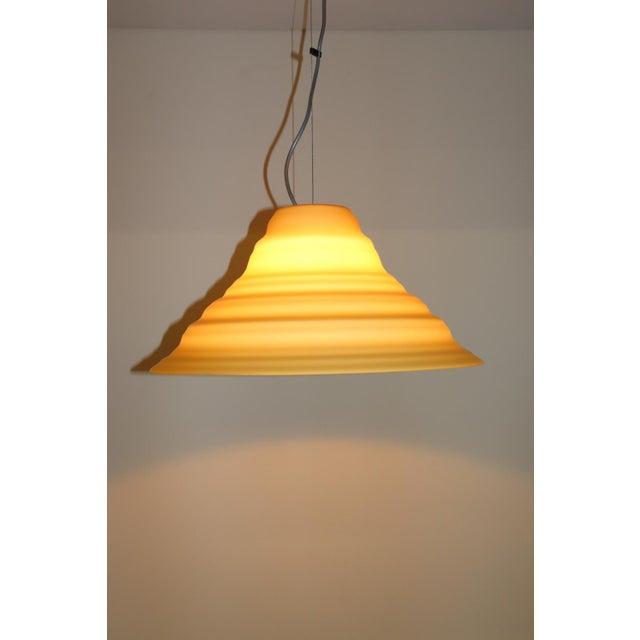 "Amber ""Incamiciato"" Amber Murano Glass Mid-Century Modern Pendant Light For Sale - Image 8 of 11"