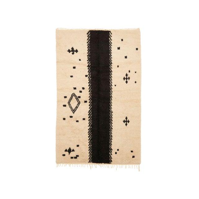 Beni Ourain Handwoven Rug - 5′10″ × 9′6″ - Image 1 of 2
