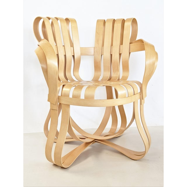 Frank Gehry for Knoll Cross Check Chair Maple Wood With Arms - a Pair For Sale - Image 9 of 13