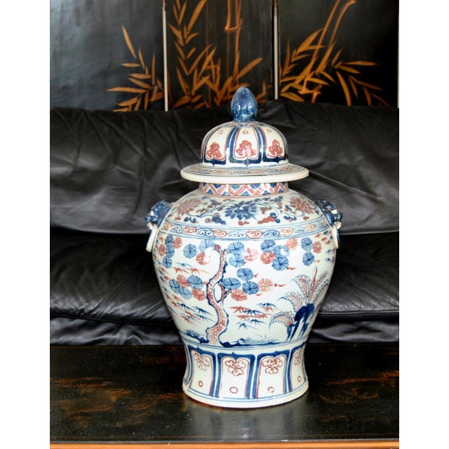 1920s Manchu Qing Dynasty Ginger Jar Lid With Finial For Sale - Image 5 of 6