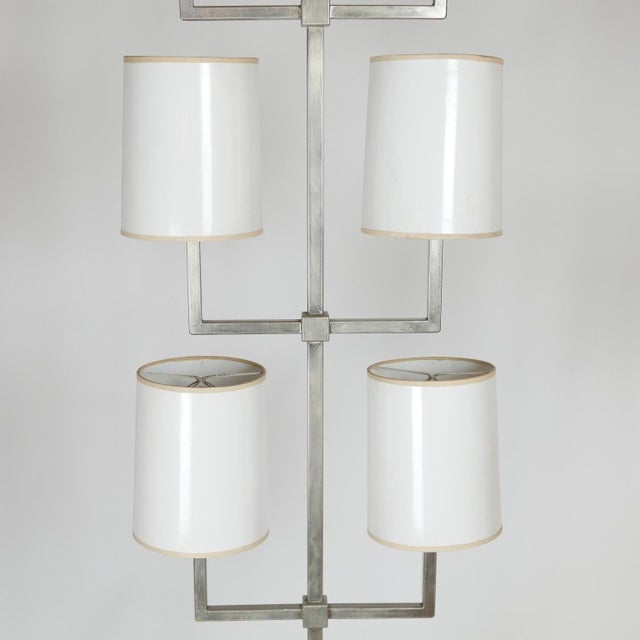 White Very Rare Limited Production Tommi Parzinger Floor Lamp for Lightolier For Sale - Image 8 of 12