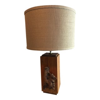 1970s Driftwood Table Lamp For Sale