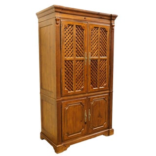 Drexel Adaptations Collections Lattice-Front Entertainment TV Cabinet For Sale